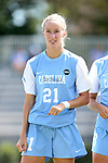 04 September 2016: North Carolina's Cameron Castleberry. The University of North Carolina Tar Heels played the Villanova University Wildcats at Koskinen Stadium in Durham, North Carolina in a 2016 NCAA Division I Women's Soccer match. UNC won the game 2-0