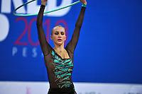 Ganna Rizatdinova of Ukraine performs with hoop at 2010 Pesaro World Cup on August 27, 2010 at Pesaro, Italy.  Photo by Tom Theobald.