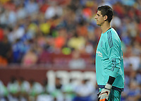 Landover MD. - July 28, 2015: Chelsea FC defeated FC Barcelona 3-2 in penalty kicks after drawing the game 2-2 in regular time, during an international friendly match at FedexField stadium.