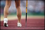 Javelin throw, Karen Forkel (Germany) bronze, Summer Olympics, Atlanta, Georgia, USA July 1996