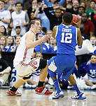 Brandon Knight takes the last second shot, defeating Ohio State and breaking the freshman scoring record, in the Sweet 16 of the 2011 NCAA Basketball Tournament, at the Prudential Center, in Newark, NJ.  Photo by Latara Appleby | Staff