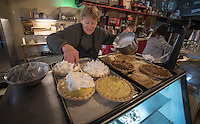 NWA Democrat-Gazette/J.T. WAMPLER Cathie Brown of Oark makes pies Thursday Feb. 2, 2017 at the Oark General Store. The store was established in 1890 and is on the Register of Historical Places in Arkansas.