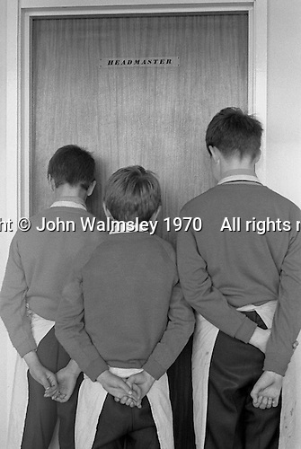 Boys who have been sent to the Head, Whitworth Comprehensive School, Whitworth, Lancashire.  1970.