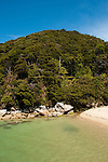 New Zealand, South Island: Landscape near Tonga Quarry along the Abel Tasman National Park coast. Photo copyright Lee Foster. Photo # newzealand125163