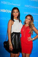 PASADENA - APR 18:  Julissa Bermudez, Adrienne Bailon arrives at the NBCUniversal Summer Press Day at The Langham Huntington Hotel on April 18, 2012 in Pasadena, CA