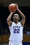 30 October 2014: Duke's Oderah Chidom. The Duke University Blue Devils hosted the Limestone College Saints at Cameron Indoor Stadium in Durham, North Carolina in an NCAA Women's Basketball exhibition game. Duke won the game 100-33.