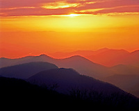 Brasstown Bald Chattahoochee National Forest, Georgia   Sunset on Southern Appalachian Mountains      Appalachian Trail