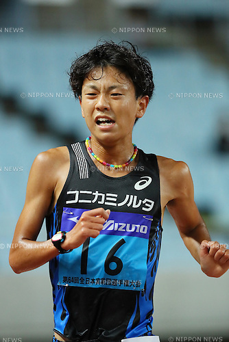 Daichi Kamino, <br /> SEPTEMBER 24, 2016 - Athletics : <br /> The 64th All Japan Industrial Athletics Championship <br /> Men's 10000m <br /> at Yanmar Stadium Nagai, Osaka, Japan. <br /> (Photo by YUTAKA/AFLO SPORT)