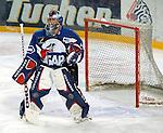 Eishockey Deutscher Eishockey-Pokal Arena Nuernberg (Germany) Halbfinale Nuernberg IceTigers - Adler Mannheim (1:5) Torwart Dimitri Paetzold (Mannheim)