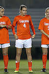 15 October 2016: Virginia's Meghan Cox. The Duke University Blue Devils hosted the University of Virginia Cavaliers at Koskinen Stadium in Durham, North Carolina in a 2016 NCAA Division I Women's Soccer match. Duke won the game 1-0.