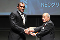 Nemani Nadolo (NEC), .February 27, 2012 - Rugby : .Japan Rugby Top League 2011-2012 Awards Ceremony .at Tokyo International Forum, Tokyo, Japan. .(Photo by Daiju Kitamura/AFLO SPORT) [1045].