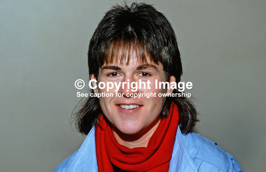 Barbara Lowans, Bangor, N Ireland, squash player, 19850002BL..Copyright Image from Victor Patterson, 54 Dorchester Park, Belfast, UK, BT9 6RJ..Tel: +44 28 9066 1296.Mob: +44 7802 353836.Voicemail +44 20 8816 7153.Skype: victorpattersonbelfast.Email: victorpatterson@mac.com.Email: victorpatterson@ireland.com (back-up)..IMPORTANT: If you wish to use this image or any other of my images please go to www.victorpatterson.com and click on the Terms & Conditions. Then contact me by email or phone with the reference number(s) of the image(s) concerned.