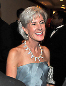 Washington, D.C. - May 9, 2009 -- Secretary of Health and Human Services Kathleen Sebelius attends one of the parties prior to the White House Correspondents Dinner in Washington, D.C. on Saturday, May 9, 2009..Credit: Ron Sachs / CNP.(RESTRICTION: NO New York or New Jersey Newspapers or newspapers within a 75 mile radius of New York City)
