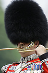 A drummer at the Trooping of the colour parade at horseguards in London. June 2007  Picture by James Boardman .. .