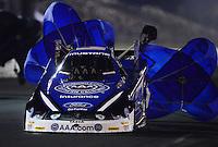 May 18, 2012; Topeka, KS, USA: NHRA funny car driver Robert Hight during qualifying for the Summer Nationals at Heartland Park Topeka. Mandatory Credit: Mark J. Rebilas-