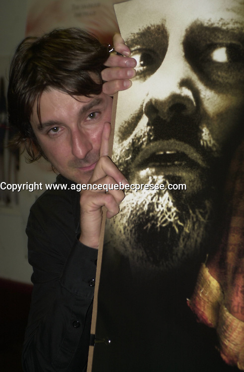 May 22 2003 File Photo<br /> Patrick Sen&Egrave;cal , director of SUR LE SEUIL, based on the book by &hellip;ric Tessier . Photo by Pierre Roussel