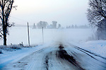 A cold morning along an rural area  north of Columbus, Wisconsin. ..