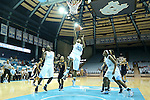 24 November 2012: North Carolina's Tierra Ruffin-Pratt (44). The University of North Carolina Tar Heels played the La Salle University Explorers at Carmichael Arena in Chapel Hill, North Carolina in an NCAA Division I Women's Basketball game. UNC won the game 85-55.