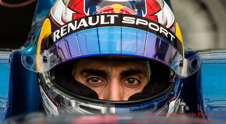 9 Sebastien Buemi (CHE)  Renault e.Dams FormulaE Battersea, London Round 11   2nd Practice<br /> <br /> Photo:  - Richard Washbrooke Photography