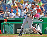 8 June 2008: San Francisco Giants' right fielder Randy Winn in action against the Washington Nationals at Nationals Park in Washington, DC. The Giants rallied to defeat the Nationals 6-3 in their third consecutive win of the 4-game series...Mandatory Photo Credit: Ed Wolfstein Photo