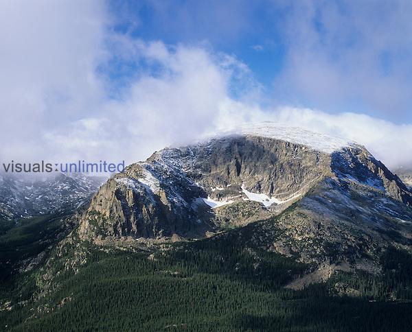 Terra Tomah Mountain and its glacial cirque, Rocky Mountain National Park, Colorado, USA.