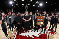 Stanford, CA - February 19, 2017: Stanford wins 72-54 over Cal in the season's final game at Maples Pavilion. Seniors were recognized at the end of the game.