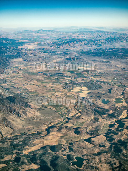 Carson Valley, USA Fly-over County-from the window seat of Southwest #1882 from SMF to DAL, September 2016<br /> <br /> State Highway 88 runs up the left middle.