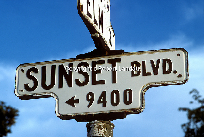 Classic Sunset Blvd. sign in Beverly Hills, CA