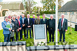 Moyvane Village Festival :Pictured at the unveiling  & blessing of the 365th 1916 Garden of Remembrance in Moyvane on Sunday last were Gabriel Fitzmaurice, Ursala Enright, John Looney, Dinny Flaherty, ......, John Brassil, TD., .....Commadent Raymony McGibney, Staff officer Collins Barracks, Sen. Mark daly, Fr. McNamara, PP. Moyvane & Shamus Roche.