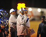 Water Valley coach Brad Embry vs. Aberdeen in Water Valley, Miss. on Friday, October 21, 2011. Water Valley won 20-14.