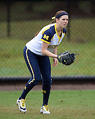 Michigan Wolverines outfielder Lyndsay Doyle (11) during the season opener against the Florida Gators on February 8, 2014 at the USF Softball Stadium in Tampa, Florida.  Florida defeated Michigan 9-4 in extra innings.  (Copyright Mike Janes Photography)