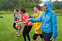 From right, Danielle Leahy, Sierra Trejos, Alyssa Kwok, Joseph Miller. Outdoor team building activities. Wilderness medicine.