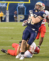 October 25, 2008: Pitt tight end Nate Byham (80). The Rutgers Scarlet Knights defeated the Pitt Panthers 54-34 on October 25, 2008 at Heinz Field, Pittsburgh, Pennsylvania.