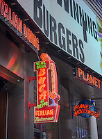 Buca di Beppo Italian casual dining restaurant and Planet Hollywood theme restaurant in Times Square in New York on Sunday, March 23, 2014. Buca di Beppo is a subsidiary of the Planet Hollywood Group.(© Richard B. Levine)