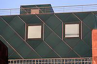 Los Angeles: Museum of Contemporary Art. Architect Arata Isozaki. Detail of wall. Photo '91.