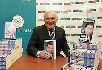 """25/05/2009.Former Taoiseach Bertie Ahern TD  at the launch of Johnny Fallon's book """"Brian Cowen in his Own Words"""" at Hughes & Hughes Booksellers in St. Stephens Green Shopping Centre, Dublin..Photo: Gareth Chaney Collins"""