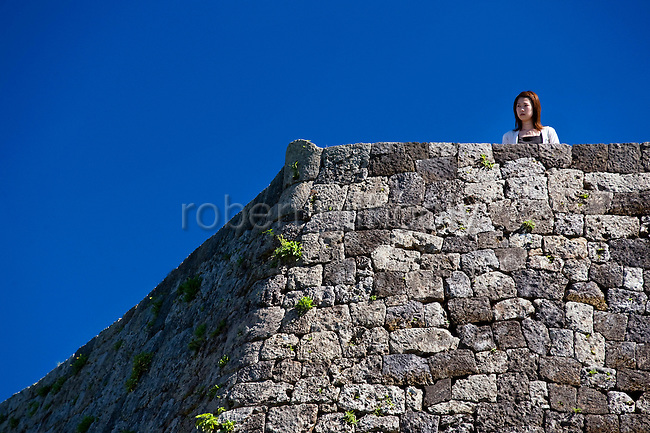 Photos shows the Nakagusuku Castle ruins in KITA-NAKAGUSUKU VILLAGE, Okinawa Prefecture, Japan, on May 20, 2012. Photographer: Robert Gilhooly