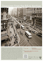 "Parade of 55 New ""White"" Motor Coaches Along Market St 