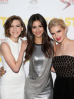 WESTWOOD, CA - April 13: Eden Sher, Victoria Justice, Claudia Lee, At Premiere Of Swen Group's &quot;The Outcasts&quot; At The Landmark Regent  In California on April 13, 2017. <br /> CAP/MPIFS<br /> &copy;MPIFS/Capital Pictures