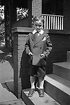 Wilkinsburg PA:  Brady Stewart Jr posing for a photograph before going to church - 1926.  Photo taken in front of 1007 East End Avenue in Wilkinsburg
