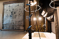 A collotype of a mural from Horyu-ji temple in Nara. Benrido collotype atelier, Kyoto, Japan, October 9, 2015. The Benrido collotype atelier in Kyoto was founded in 1887 and is the only full-scale commercial collotype atelier in the world. Collotype is a historic photographic printing process that makes use of plates coated in gelatine. It produces prints of unrivalled quality.