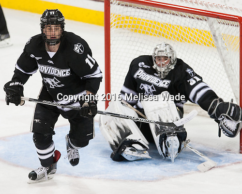 Niko Rufo (PC - 11) - The Boston College Eagles defeated the visiting Providence College Friars 7-3 on Friday, January 8, 2016, at Kelley Rink in Conte Forum in Boston, Massachusetts.