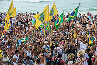 Pipeline, North Shore of Oahu, Hawaii Friday December 19 2014) - The final stop of the 2014  World Championship Tour, the Billabong Pipe Masters in Memory of Andy Irons, was  ccompleted today in NW double overhead surf. <br /> Gabriel Medina (BRA) became the first ever Brazilian World Champion after both rival contenders , Kelly Slater (USA) and Mick Fanning (AUS) were eliminated from the contest. Medina went onto finish 2nd overall behind Julian Wilson (AUS). <br /> In the overlapping heat format Wilson surf three consequent heats and still had enough entry to take out the 30 minute final.<br /> By winning the final Wilson also won the covered Vans Triple Crown of Surfing for best overall performance through the whole Triple Crown.<br /> <br /> The Billabong Pipe Masters in Memory of Andy Irons will determine this year&rsquo;s world surfing champion as well as those who qualify for the elite tour in 2015. As the third and final stop on the Vans Triple Crown of Surfing Series  the event will also determine the winner of the revered three-event leg.<br /> <br />  Photo: joliphotos.com