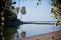 Balian Rivermouth surf break.