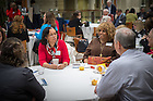 February 28, 2017; NonProfit organization leaders from the South Bend community gather at Mendoza College of Business for breakfast and presentations. (Photo by Matt Cashore/University of Notre Dame)