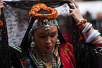 A revellers attends the Holi Hai festival organized by Indian community in New York City March 31, 2013. Photo by Eduardo Munoz Alvarez / VIEWpress.