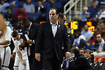 12 March 2015: Notre Dame head coach Mike Brey. The Notre Dame Fighting Irish played the University of Miami Hurricanes in an NCAA Division I Men's basketball game at the Greensboro Coliseum in Greensboro, North Carolina in the ACC Men's Basketball Tournament quarterfinal game. Notre Dame won the game 70-63.