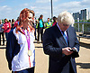 Boris Johnson <br /> Mayor of London <br /> at The Queen Elizabeth Olympic Park, Mandeville Place,  Stratford, London, Great Britain <br /> 26th May 2015 <br /> <br /> opening new Olympic Park Orchard to mark London Tree Week <br /> <br /> joined by Paralympic Gold Medallist Jessica Jane Applegate MBE <br /> <br /> <br /> <br /> <br /> Photograph by Elliott Franks <br /> Image licensed to Elliott Franks Photography Services