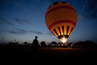 Hot air balloons on display near Fredericksburg, Texas, Friday, July 24, 2009. (Darren Abate/pressphotointl.com)