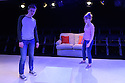"""Damsel Productions presents, Soho Young Writer Award Winner, Phoebe Eclair-Powell's play """"Fury"""" at Soho Theatre. Directed by Hannah Bauer-King, with set design by Anna Reid, and lighting design by Natasha Chivers. Picture shows: Alex Austin (Tom), Sarah Ridgeway (Sam)"""